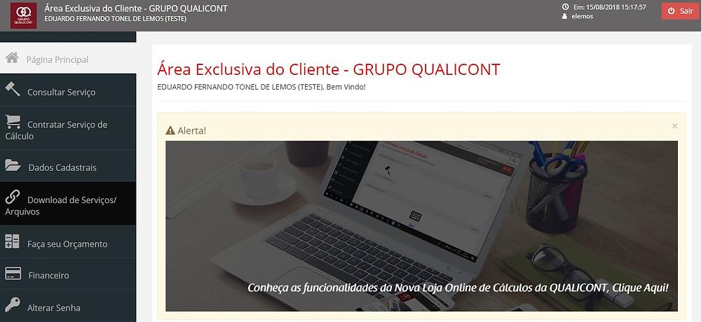 A primeira loja on line de cálculos judiciais do Brasil