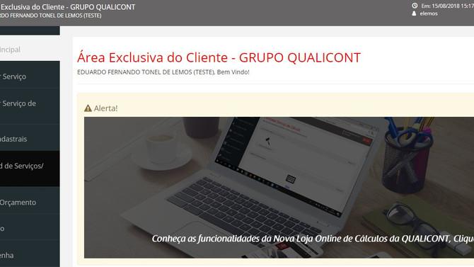 Conheça as funcionalidades da Área Exclusiva de Cliente do Grupo QUALICONT