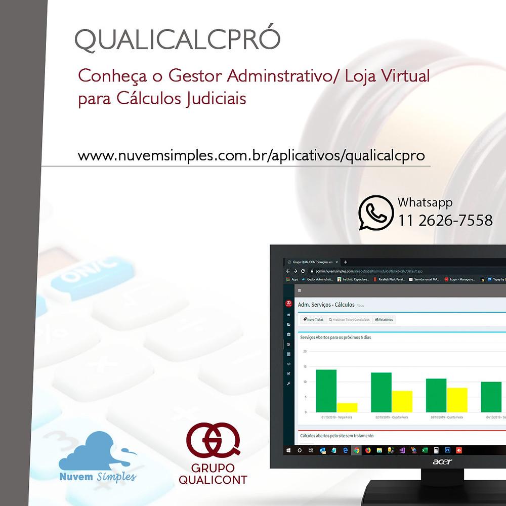 QUALICALCPRÓ - Sistema gerencial para empresas de cálculos judiciais