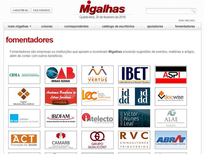 Grupo QUALICONT passa a ser empresa Fomentadora do site jurídico Migalhas