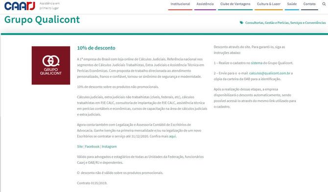 Grupo QUALICONT e CAARJ iniciam parceria na área de contabilidade para advogados