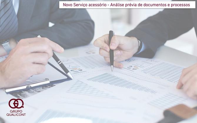 Novo serviço Grupo QUALICONT - análise prévia de documentos e processos