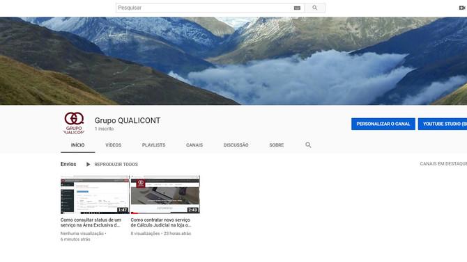 O Grupo QUALICONT está no YouTube!