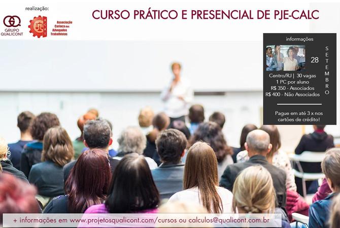 Próximo curso prático de PJe-Calc em parceria com ACAT/RJ será dia 28 de Setembro