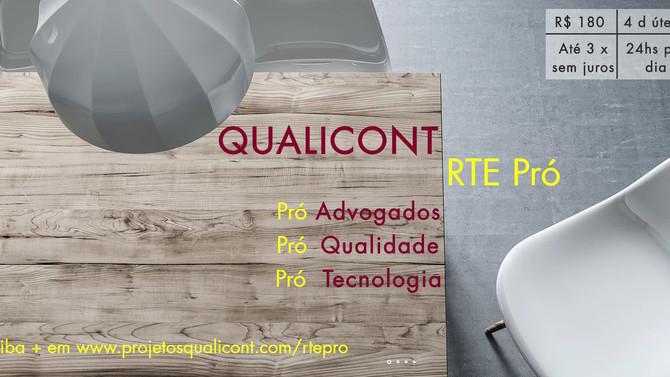 Novo produto Grupo QUALICONT: RTE Pró