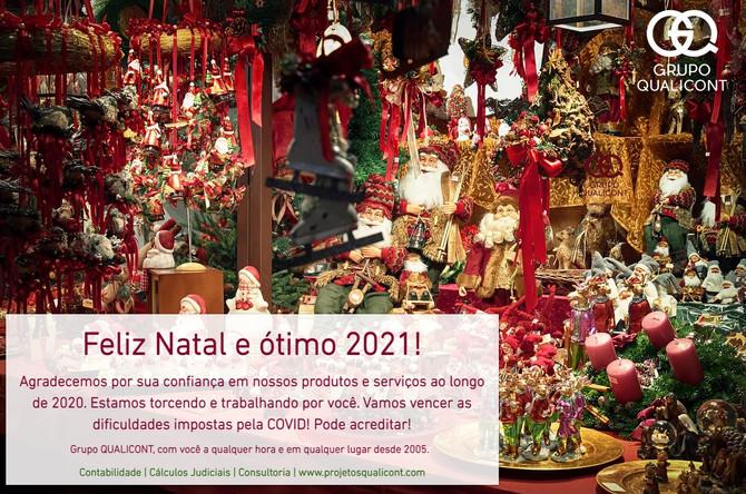 Mensagem de Natal e Ano Novo Grupo QUALICONT