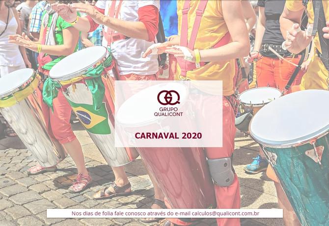 Funcionamento do Grupo QUALICONT durante o Carnaval 2020