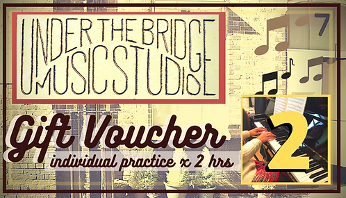 2 hours individual rehearsal Gift card