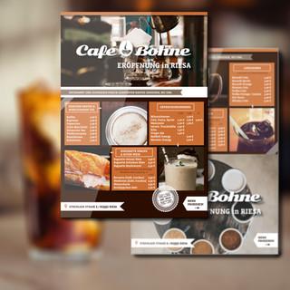 CAFE BOHNE; Printdesign, Kampagnengestaltung