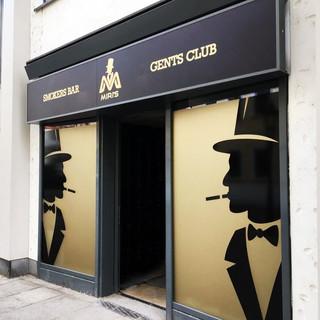 MIRIS GENTS CLUB; Shop Sign, Außenwerbung; Montage