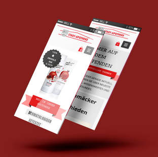 STADTAPOTHEKE; Displayentwurf, Webdesign