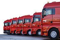 Transportspezialist, Transport und Logistik, Industriegüter Bundesgebiet und Benelux-Staaten, Fuhrpark mit Planensattelzüge und Containertransporte, Berufskraftfahrer, Lagerhalle, Kraftfahrzeuge,