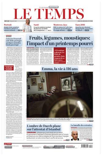 Le Temps - 30.06.2016