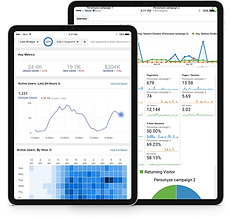 Tablets Displaying Marketing Anayltics