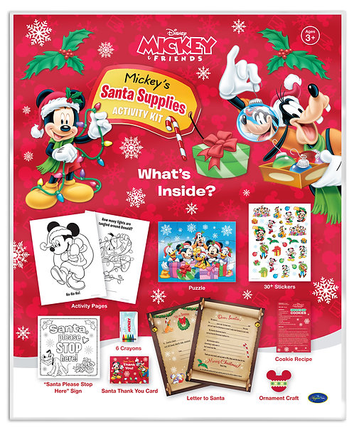 Disney Mickey's Santa Supplies Activity Kit