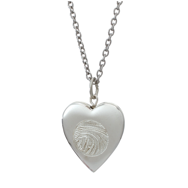 Silver Heart Locket Urn