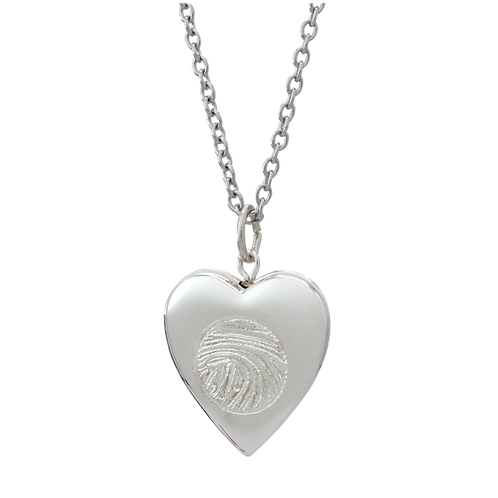 Silver Heart Locket Urn