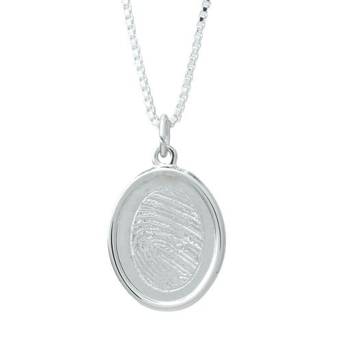 Silver Indented Oval
