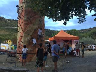 Mobil'Grimpe présent sur le Fatche Festival, Les Vans en Ardèche