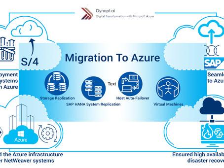 SAP Migration to Azure from on-prem Datacenter or HANA Enterprise Cloud.