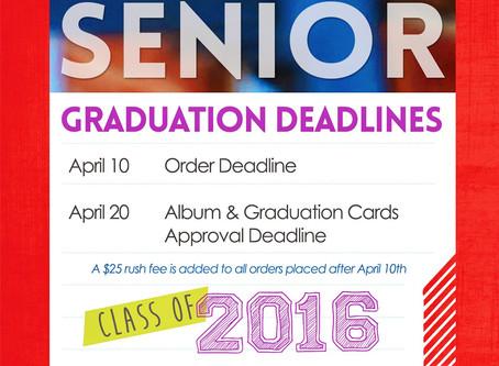 Class of 2016 - Deadlines