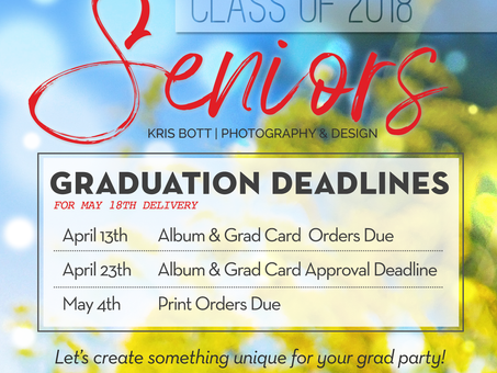 Graduation Deadlines