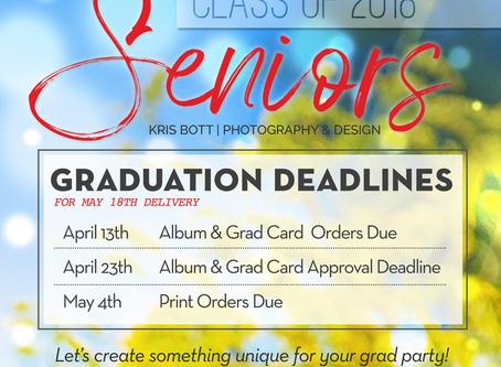Graduation Deadlines