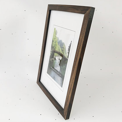 A4 מסגרת עץ חום כהה
