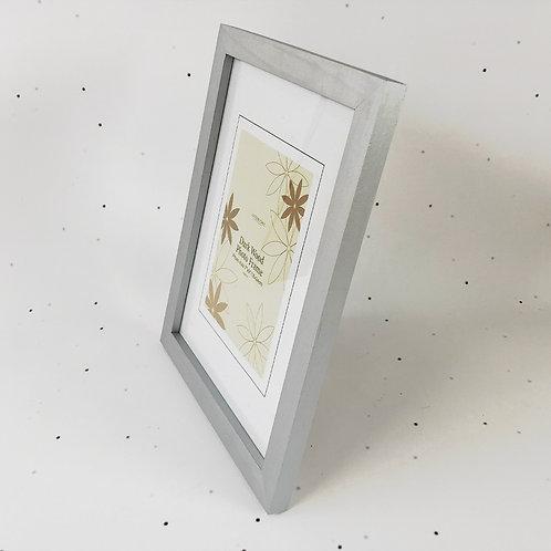 18x24 מסגרת עץ כסף