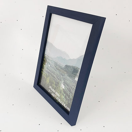 18x24 מסגרת עץ כחול