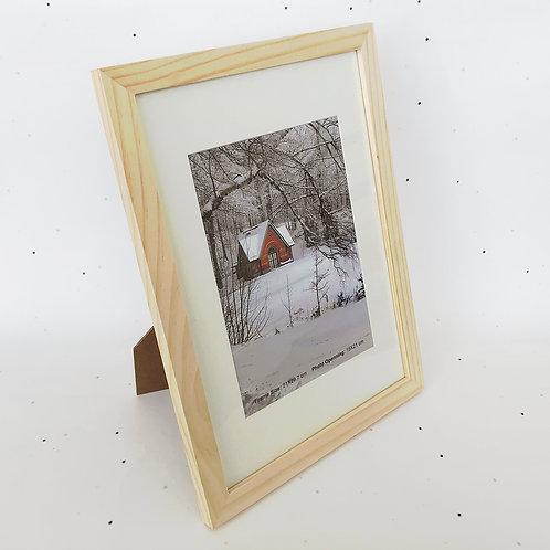 A4 מסגרת עץ טבעי