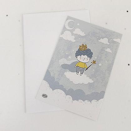 כרטיס ברכה נסיך קטן