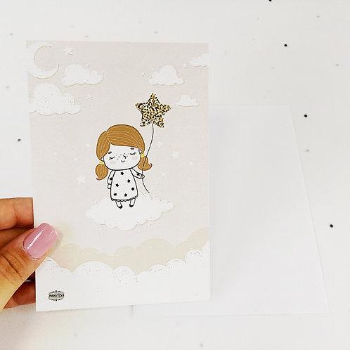 כרטיס ברכה נסיכה קטנה