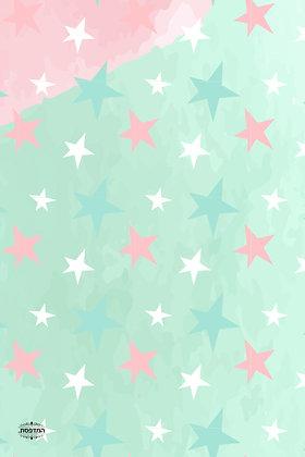 כרטיס ברכה כוכבים