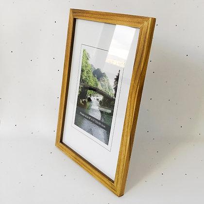 20x30 מסגרת עץ טבעי כהה