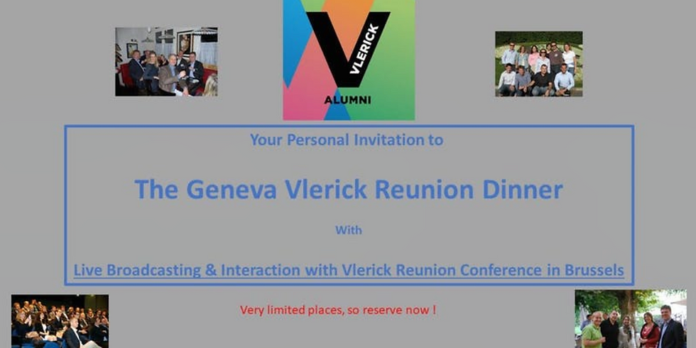 The Vlerick Global Alumni Winter Reunion Dinner: With Live Broadcast from Geneva