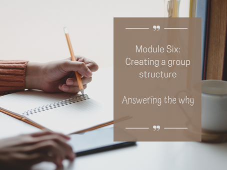 Why do I need to 'create a group structure'?