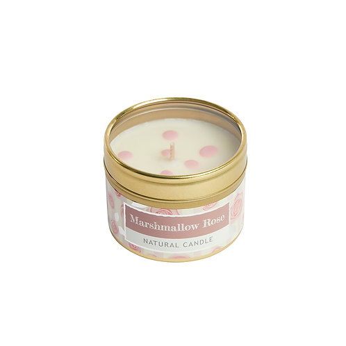 Marshmallow Rose Small Dotty Tin