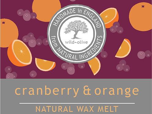 Cranberry and Orange Wax Melt