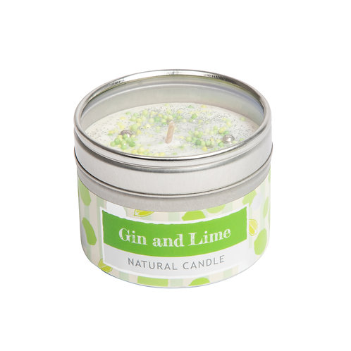 Gin and Lime Small Dotty Candle