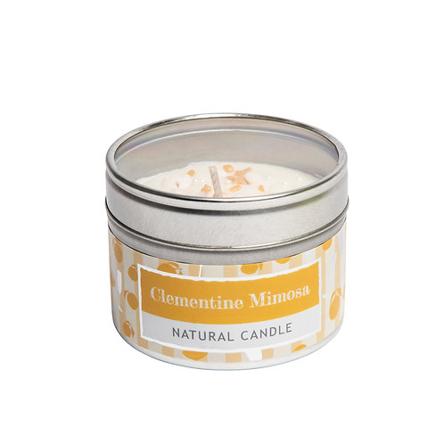 Clementine Mimosa Small Tin Candle