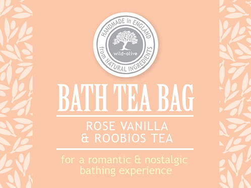 Rose and Vanilla Roobios Bath Tea Bag