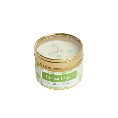 Gin and Lime Dotty Candle