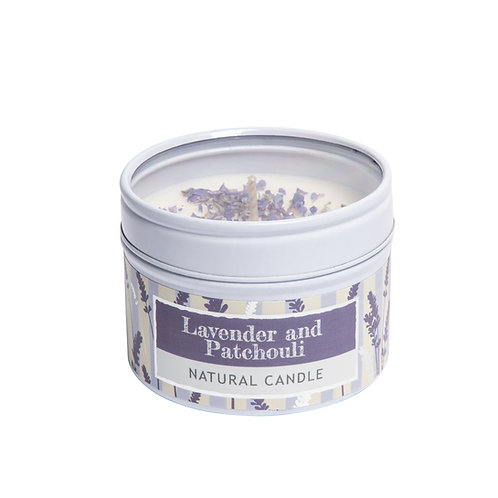 Lavender, Patchouli and Vanilla Small Dotty Tin