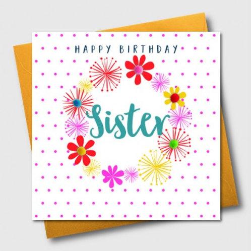 POM POM HAPPY BIRTHDAY, SISTER