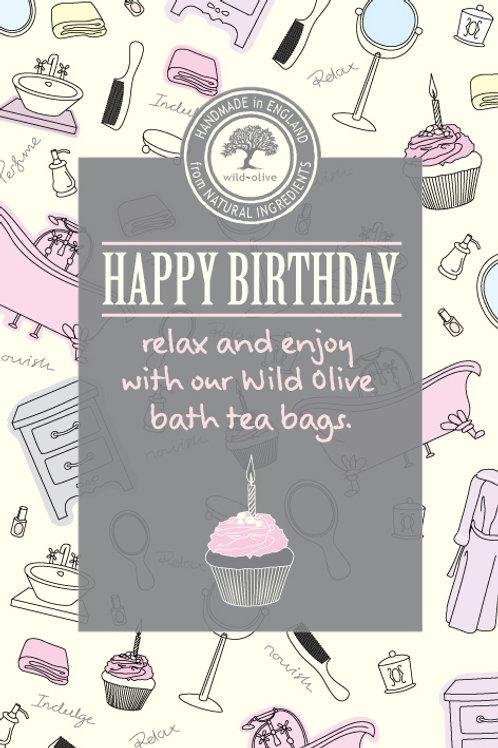 Happy Birthday Cupcake Tea Bag Card