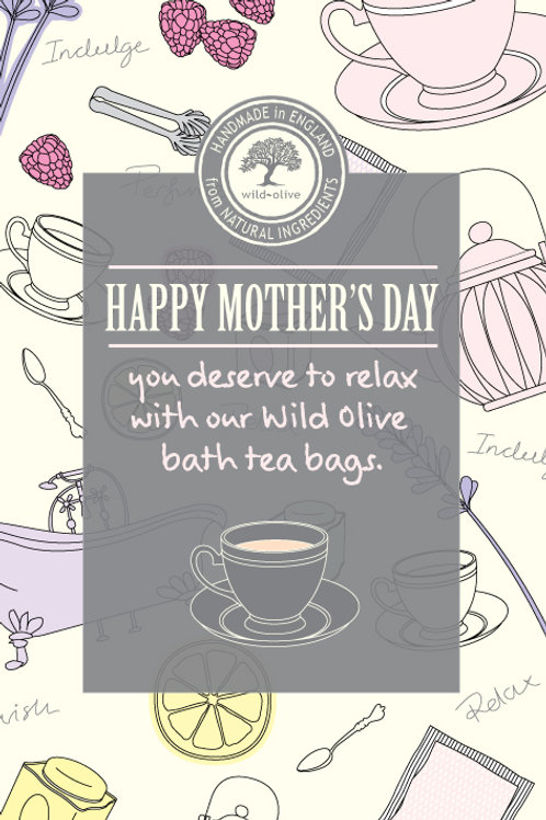 Happy Mothers Day Tea Bag Card