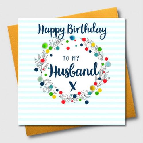 POM POM HAPPY BIRTHDAY TO MY HUSBAND