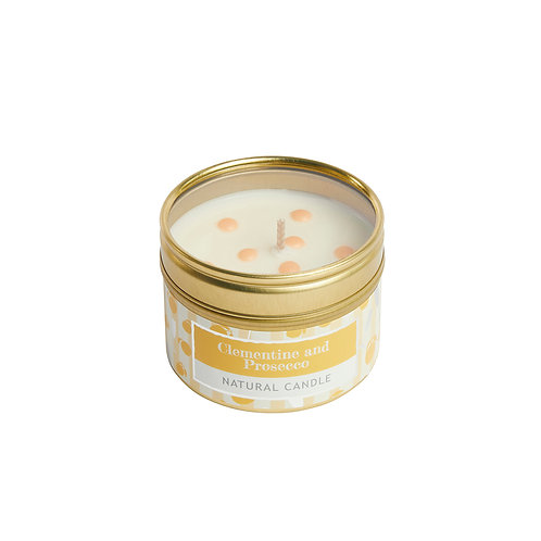 Clementine and Prosecco Small Tin Candle
