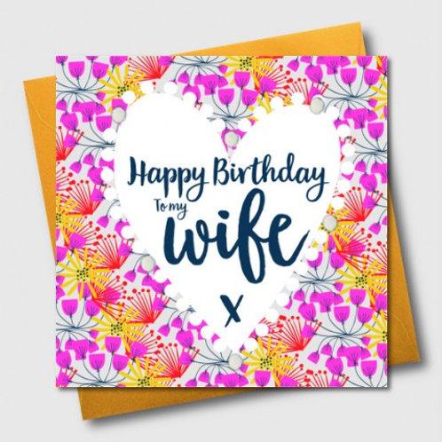 POM POM HAPPY BIRTHDAY TO MY WIFE